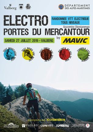 Affiche Randonnées Electro Portes du Mercantour by Mavic - 27 July 2019