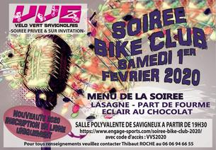 Affiche Soirée Bike Club 2020 - 1/2 February