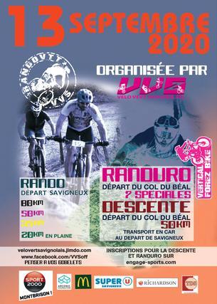 Affiche 35° rando-descente chalmazel savigneux - 13 September