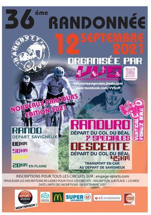 Affiche 36° rando-descente chalmazel savigneux - 12 September