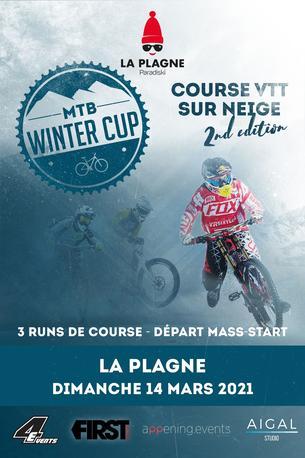 Affiche MTB WINTER CUP - LA PLAGNE - 14 March