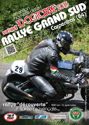 Affiche Rallye Grand Sud - 10/11 October 2015