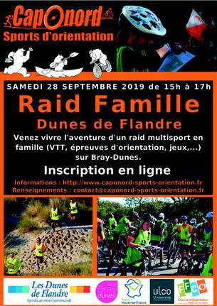 Affiche Raid Famille Dunes de Flandre Septembre 2019 - 28 September 2019