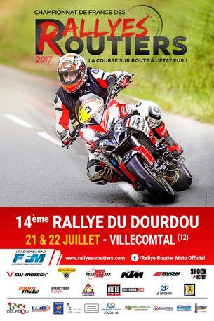 Affiche 14ème Rallye du Dourdou - 21/23 July 2017