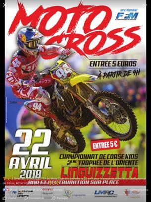 Affiche 2éme EPREUVE CHAMPIONNAT MX CORSE-Trophée de l'oriente - 22 April 2018
