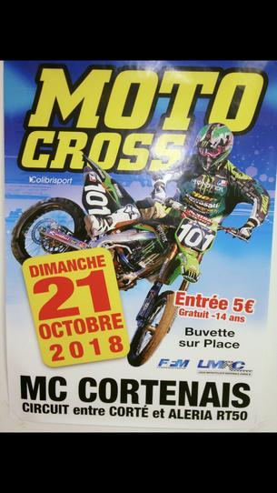 Affiche 3éme EPREUVE CHAMPIONNAT MX CORSE -Trophée motocross cortenais - 21 October 2018