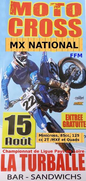 Affiche Motocross National Open la Turballe - 15 August 2019