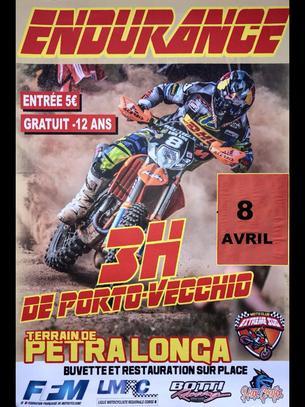Affiche 2éme EPREUVE CHAMPIONNAT ENDURANCE TT CORSE - Moto Club de l'Extreme Sud - 8 April 2018