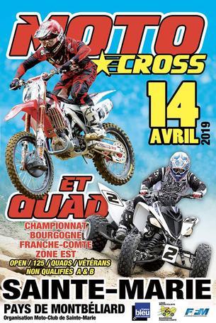 Affiche Motocross national BFC zone Est - 14 April 2019