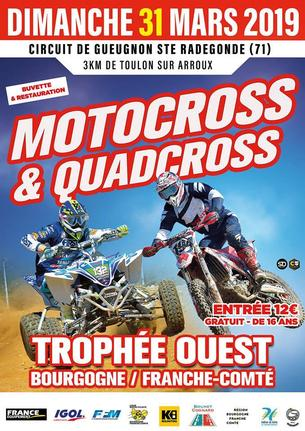Affiche Motocross national BFC zone Ouest - 31 March 2019