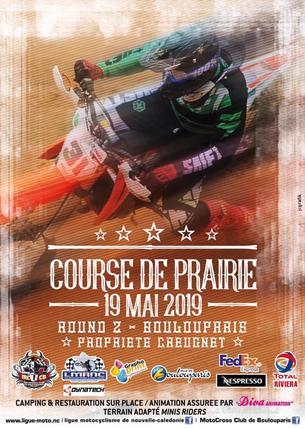 Affiche Championnat Courses sur Prairie 2019 - Minivert - 19 May 2019