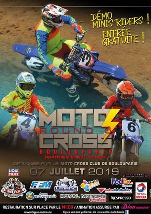 Affiche Championnat Moto Cross 2019 MINIVERT - 7 July 2019