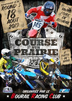 Affiche Championnat Courses sur Prairie 2019 - Minivert - 18 August 2019