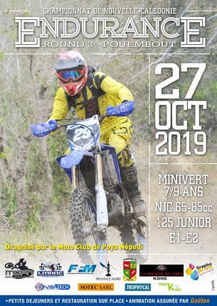 Affiche Championnat Endurance TT 2019 - 27 October 2019