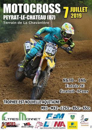 Affiche Motocross de Peyrat le Chateau - 7 July 2019