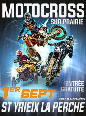 Affiche Motocross de St Yrieix la Perche - 1 September 2019