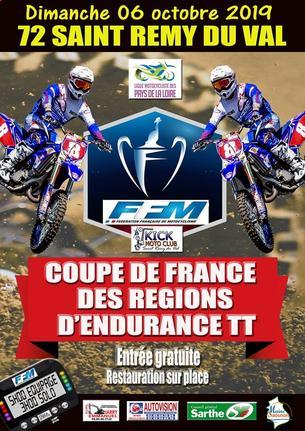 Affiche Endurance TT de ST REMY DU VAL - 6 October 2019