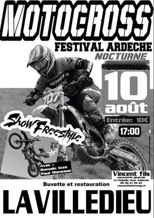 Affiche Festival Ardèche Motocross & Freestyle Nocturne - 10 August 2019