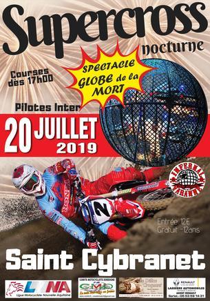 Affiche Supercross Nocturne - 20 July 2019