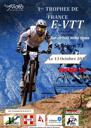 Affiche Trophée de France E-VTT Circuit Cross - 12/13 October 2019