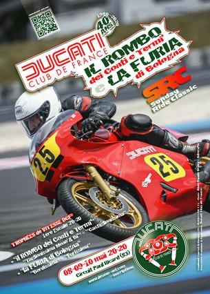 "Affiche ""Il Rombo & la Furia"" DCF® • Circuit Paul Ricard - 8/10 May"