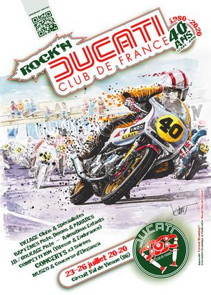 Affiche 40 Ans DCF® • Endurance & Trophées de Vitesse - 23/25 July
