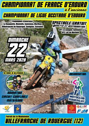 Affiche Championnat Occitanie Enduro - 22 March