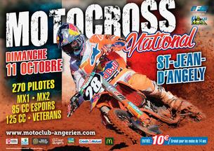 Affiche Motocross de St jean d'Angely - 11 October