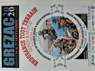 Affiche CF Endurance TT Quad - Grézac (17) - 3 heures - 25 September