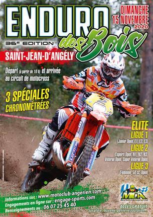 Affiche Enduro des Bois (compte pour le chpt. 2021) - 15 November