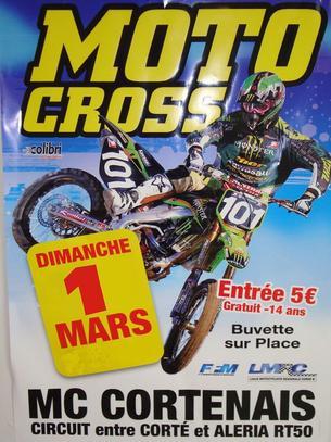 Affiche 10éme Trophée Motocross Cortenais - 1 March