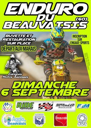 Affiche 3ème ENDURO DU BEAUVAISIS - 6 September