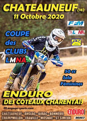 Affiche Coupe des Clubs - 11 October 2020