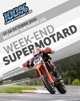 Affiche Week end Supermotard à Belmont Sur Rance le 17/18 Octobre 2020 - 17/18 October 2020