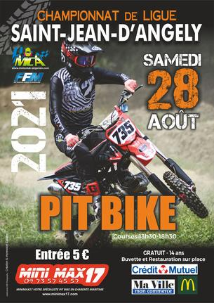 Affiche Pit Bike St Jean d'Angely - 28 August