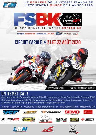 Affiche MiniGP Circuit Carole - 21/22 August