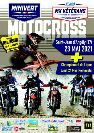 Affiche Motocross St Jean d'Angely - 24 May