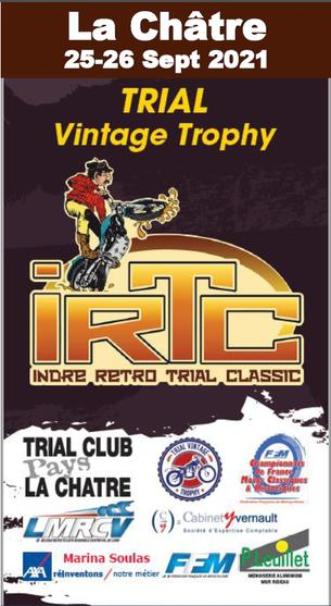 Affiche Indre Retro Trial Classic 2021 - 25/26 September