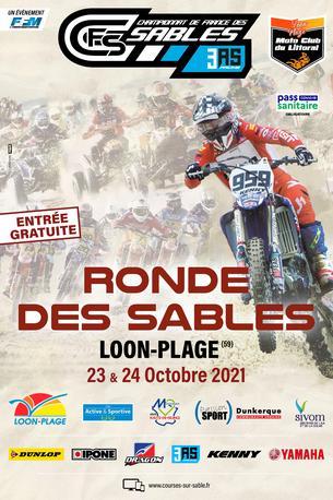 Affiche Loon-Plage - La Ronde des Sables 2021 — 2ème épreuve du CFS  3AS Racing 2021/2022 - 22/24 October