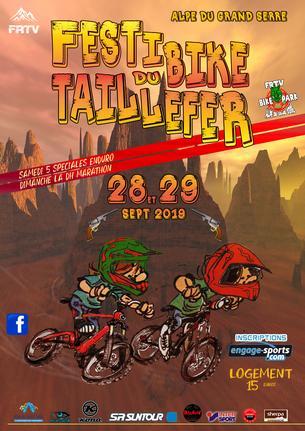 Affiche Festibike du Taillefer - 28/29 September 2019