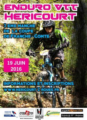 Affiche ENDURO D'HERICOURT - 19 June 2016