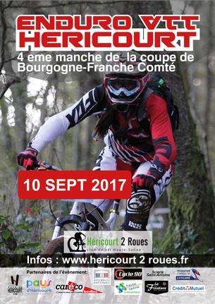 Affiche Enduro VTT Héricourt - 10 September 2017