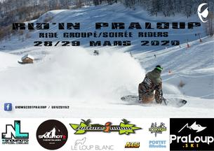 Affiche Rid'in Praloup snowscoot session - 28/29 March 2020
