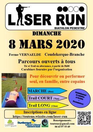 Affiche Laser Run - Biathlon 2020 - 8 mars 2020 - 8 March