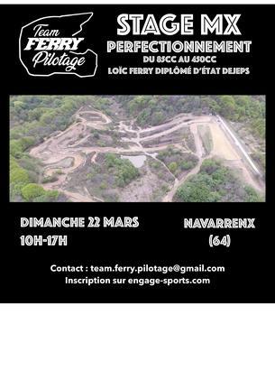 Affiche Stage de perfectionnement MOTO CROSS à NAVARRENX (64) - 22 March