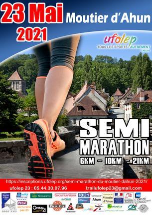 Affiche Semi marathon du Moutier d'Ahun - 23 May