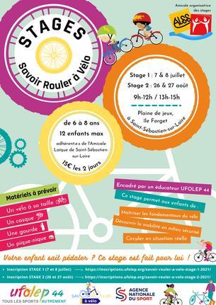 Affiche Savoir Rouler à Vélo 2 ALSS - 26/27 August