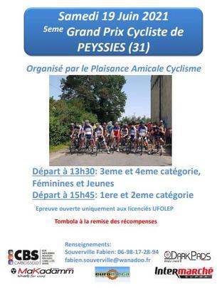 Affiche 5eme GRAND PRIX DE PEYSSIES - 19 June