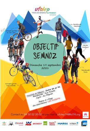 Affiche Objectif Semnoz 2021 - 19 September