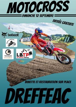 Affiche MOTOCROSS DREFFEAC 2021 - 12 September